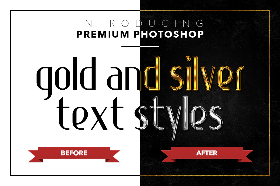 Gold & Silver #1 - 20 Text Styles example image 4
