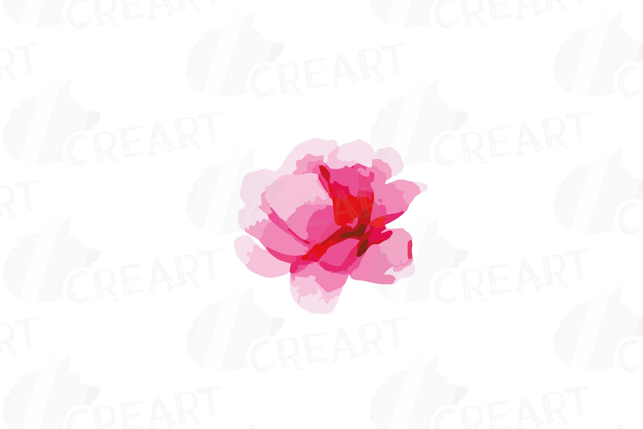 Watercolor Pink and Blue Roses and leafs clip art pack, png example image 16