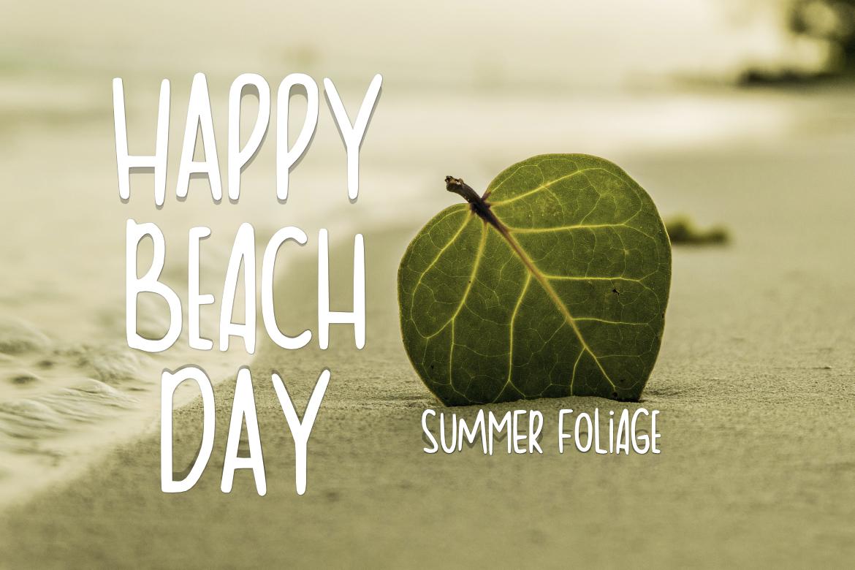 Summer Foliage Font example image 3