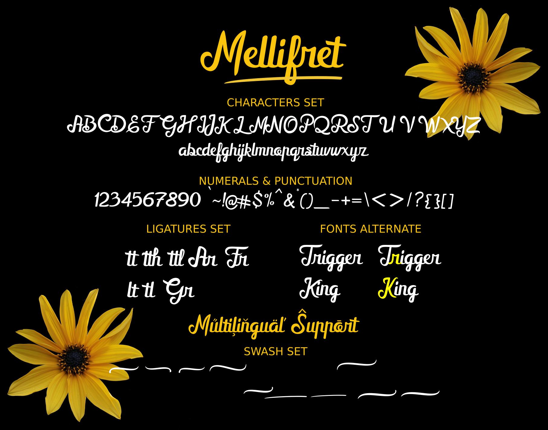 Mellifret script font example image 9