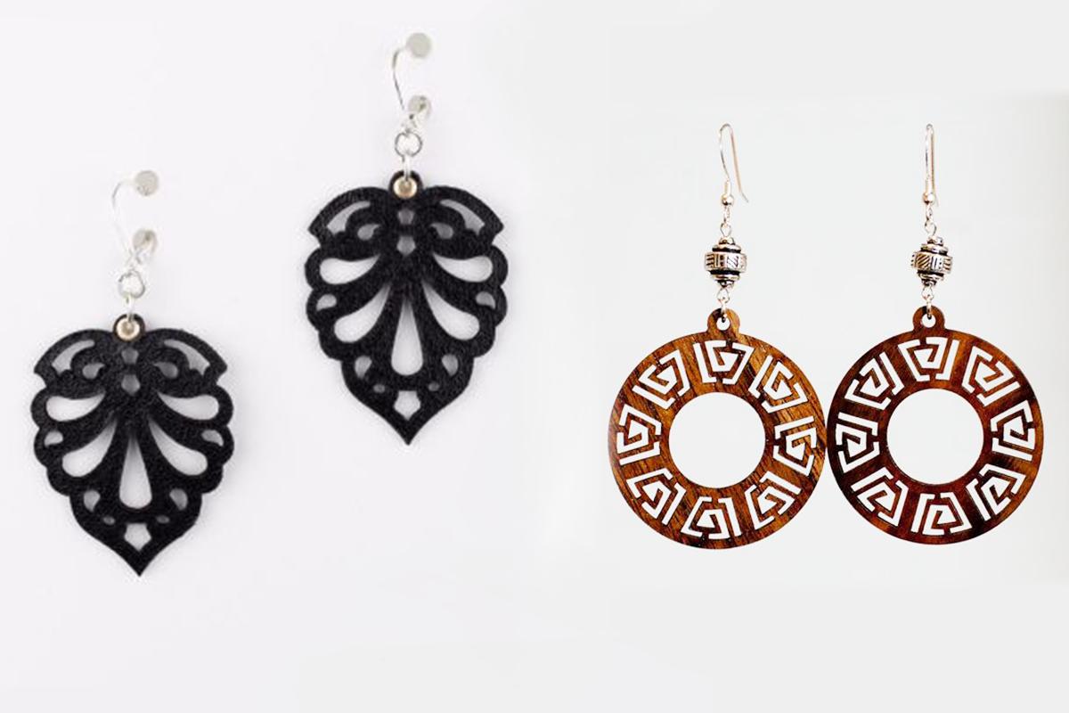 Wood Earrings SVG - Leather Earrings SVG - Earrings Bundle example image 7