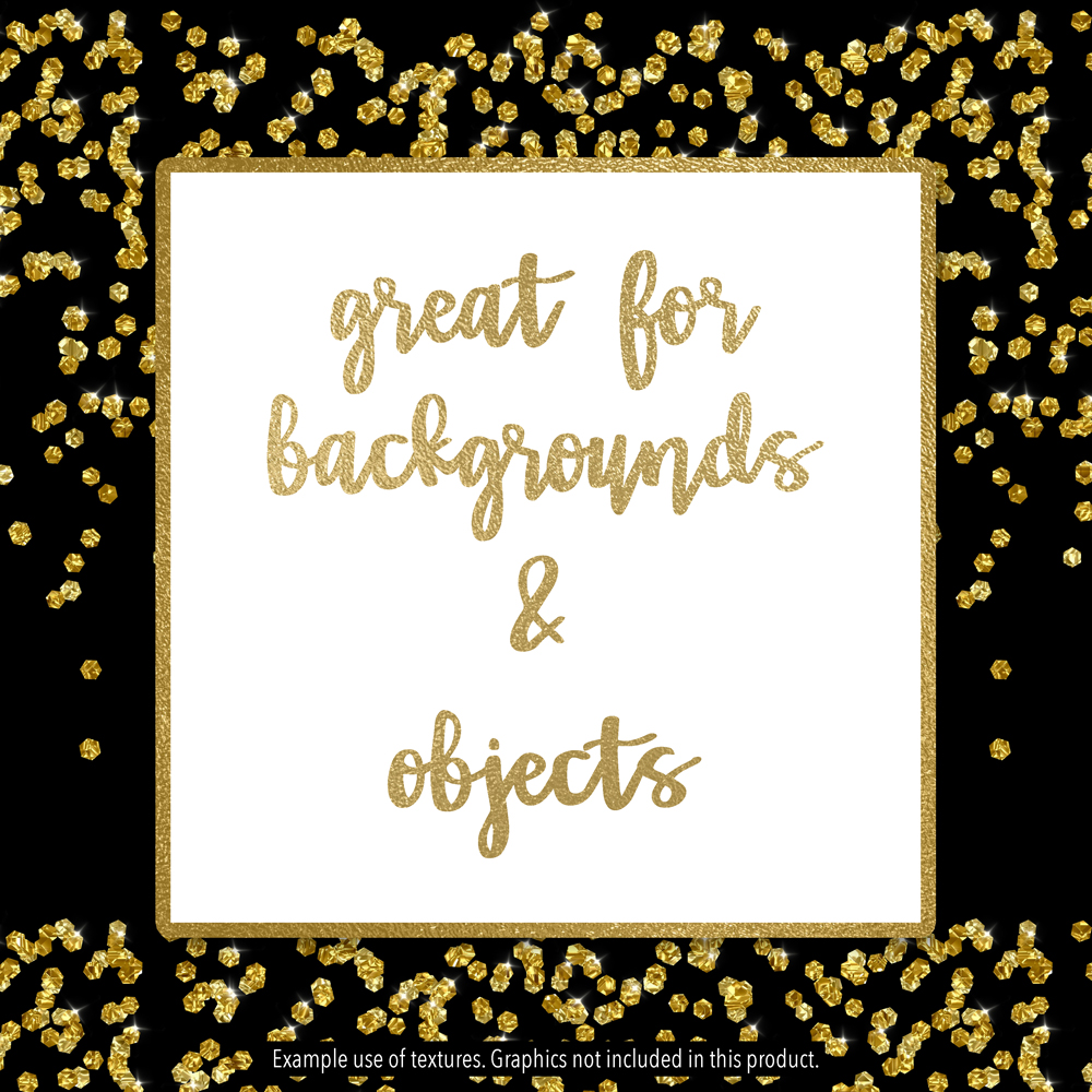 Sparkly Gold Confetti example image 4