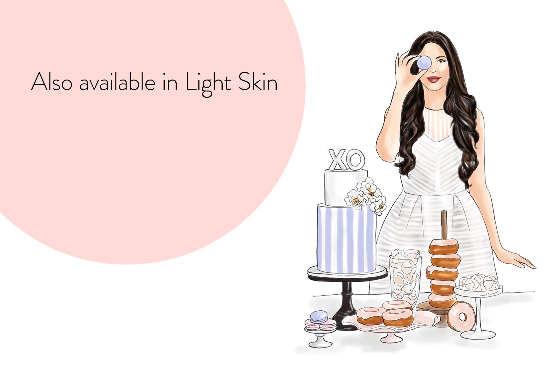 Fashion illustration - Baker Girl - Dark Skin example image 8