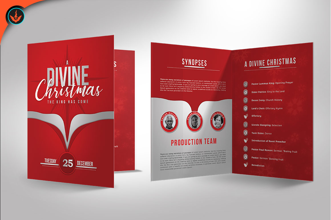 a divine christmas program photoshop template