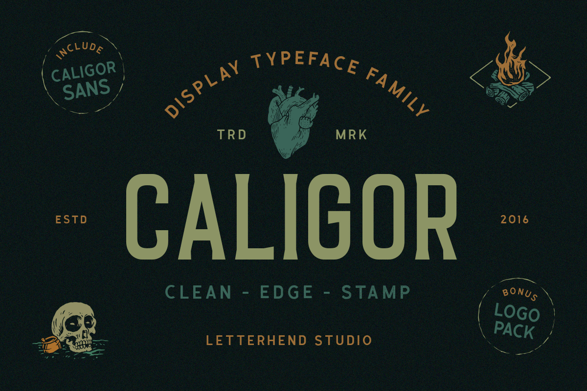 CALIGOR - Display Typeface example image 1