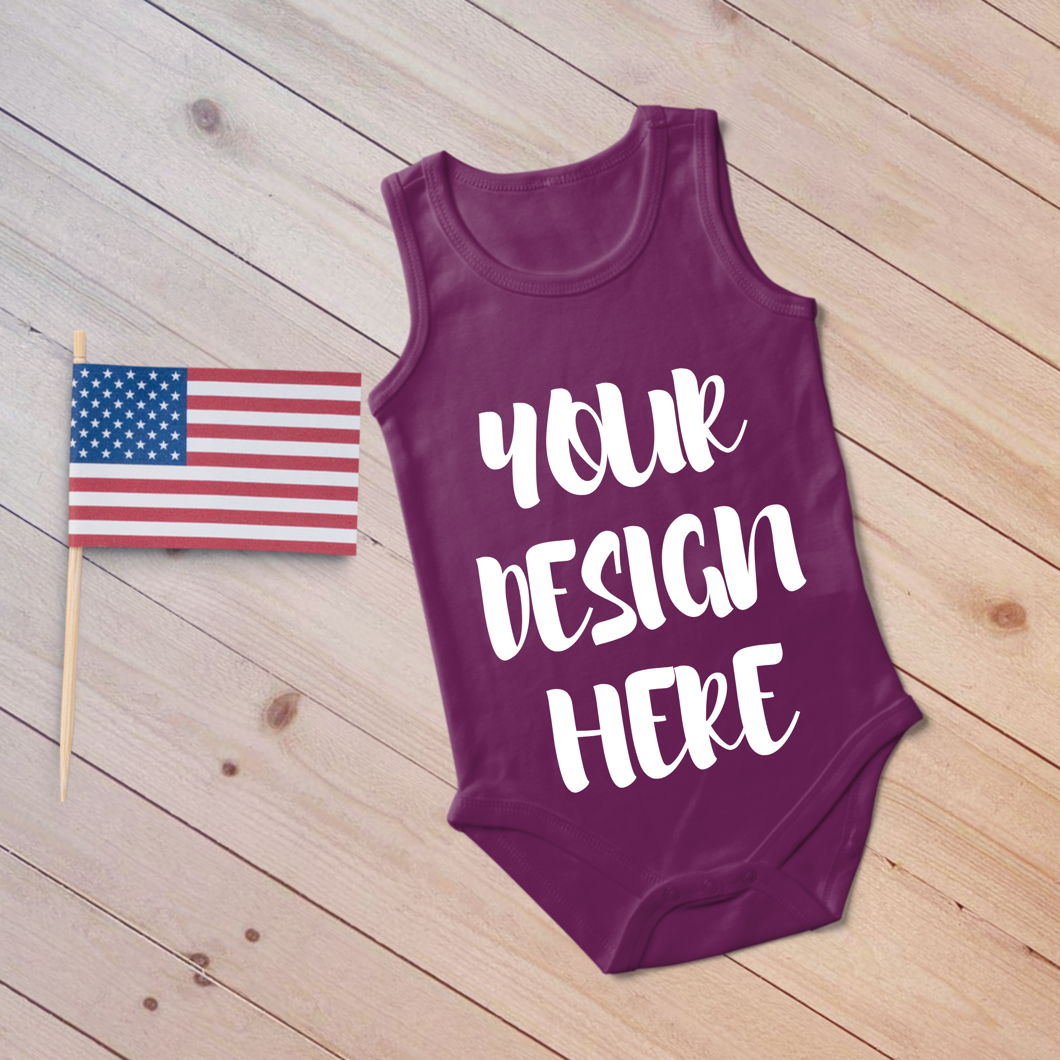 4th July Singlet Baby Bodysuit Mockups - 7 example image 4