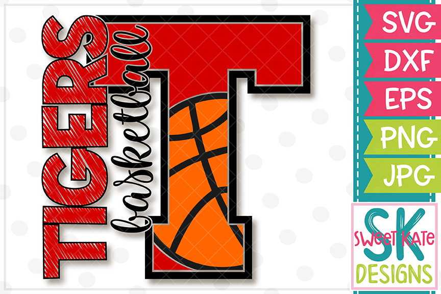 T Tigers Basketball SVG DXF EPS PNG JPG example image 4