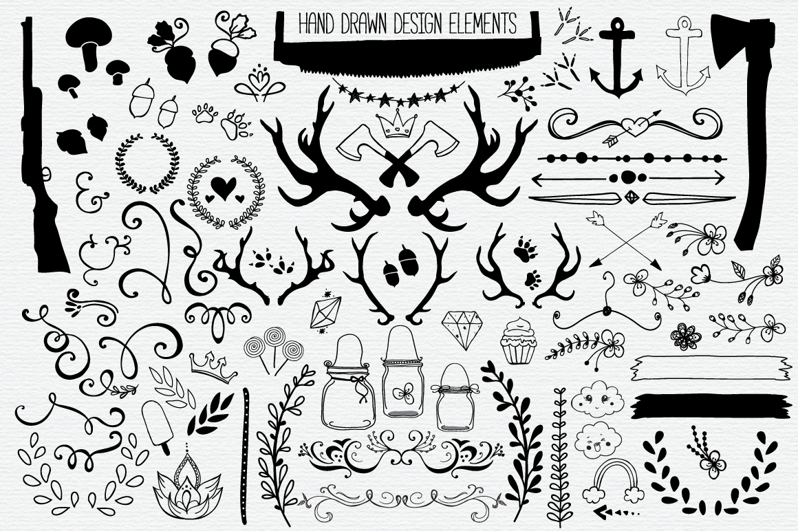 Hand Drawn Vector Elements Pack example image 2