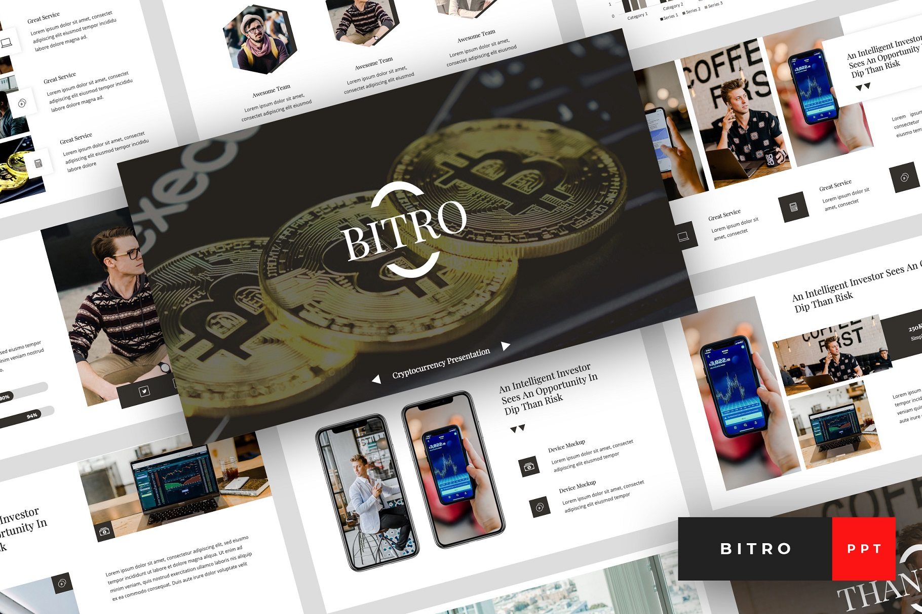 Bitro - Criptocurrency PowerPoint Template example image 1