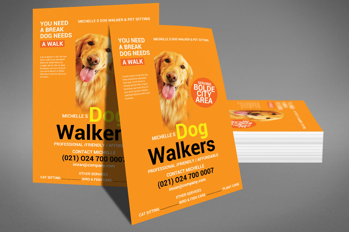 Dog walker flyer template by sanaimran design bundles dog walker flyer template example image 4 maxwellsz