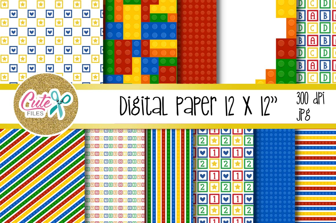 Funny blocks font for building blocks party example image 3