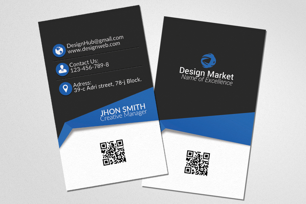 Vertical Business Cards Templates example image 1