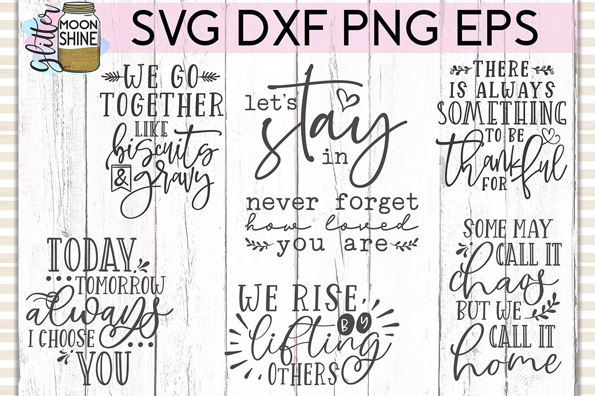 Rustic Home Bundle of 42 SVG DXF PNG EPS Cutting Files example image 5