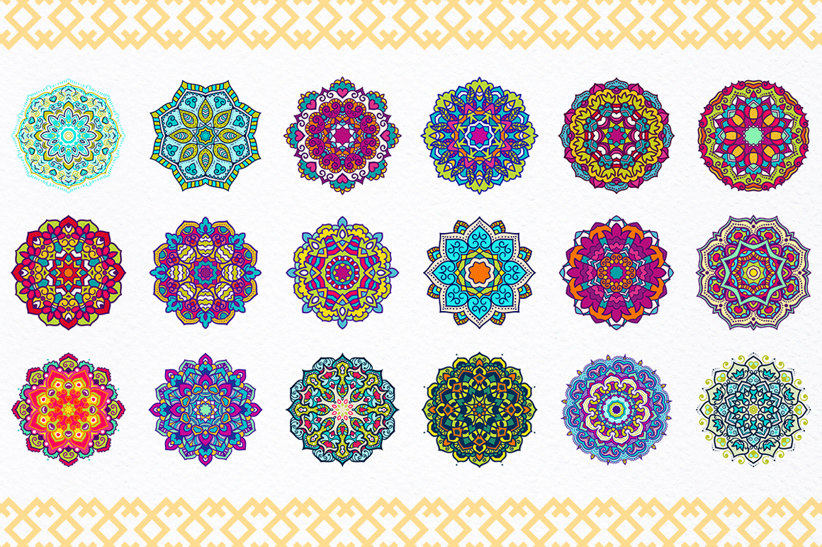 54 Vector Mandalas - Big Collection example image 4