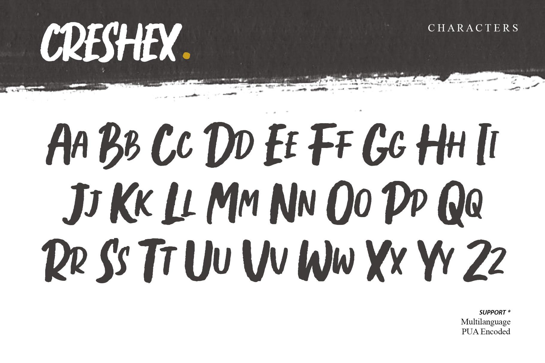 Creshex Dry Brush Font example image 4