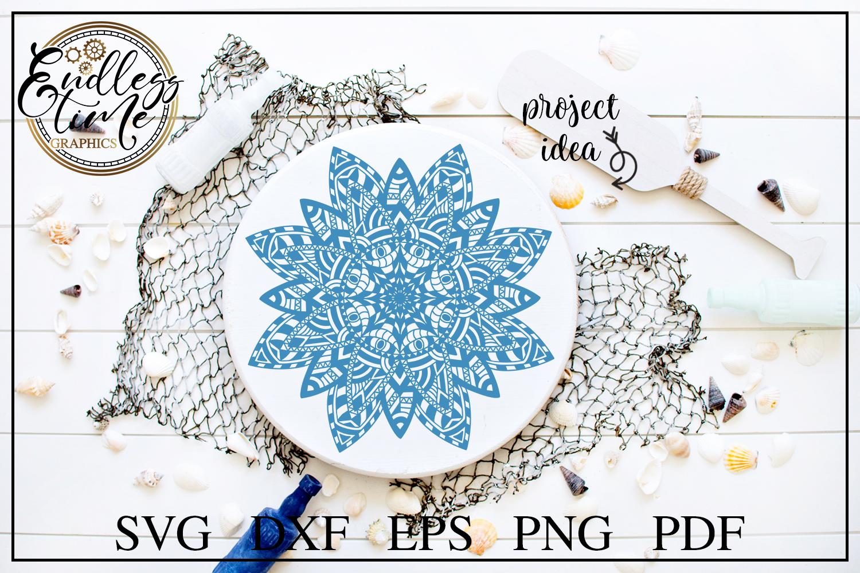 Mandala SVG Cut File - A Floral Zentangle SVG Design example image 2