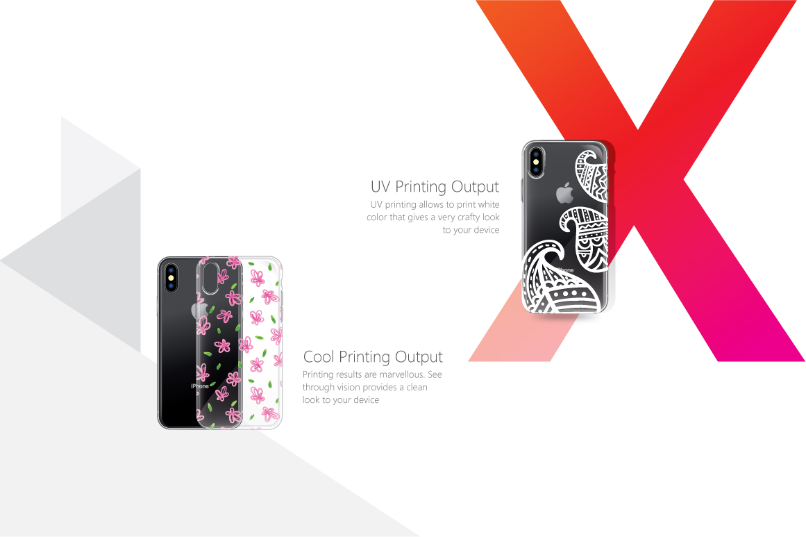 UV Printed TPU Clear Phone Case Feature Illustrations Pack example image 3