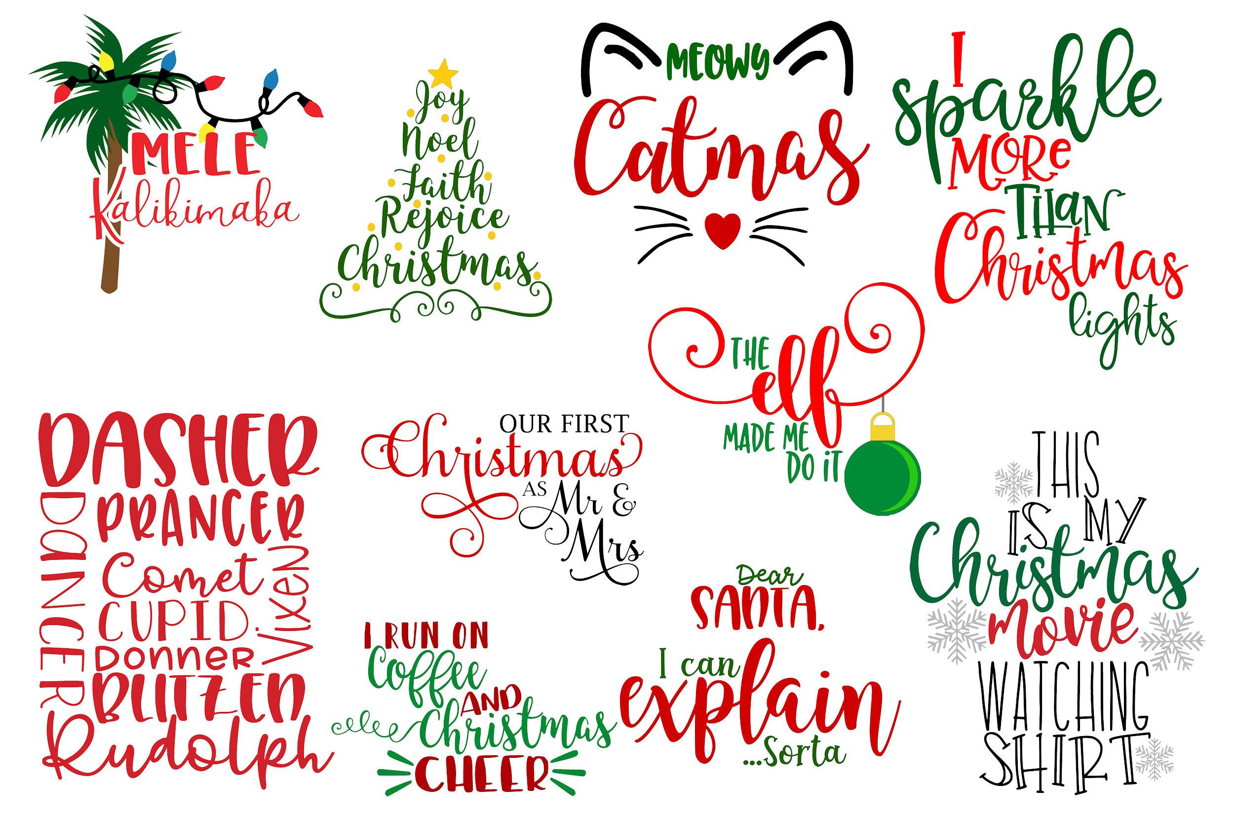 The Christmas Bundle - 30 Designs And 5 Mockups! example image 2