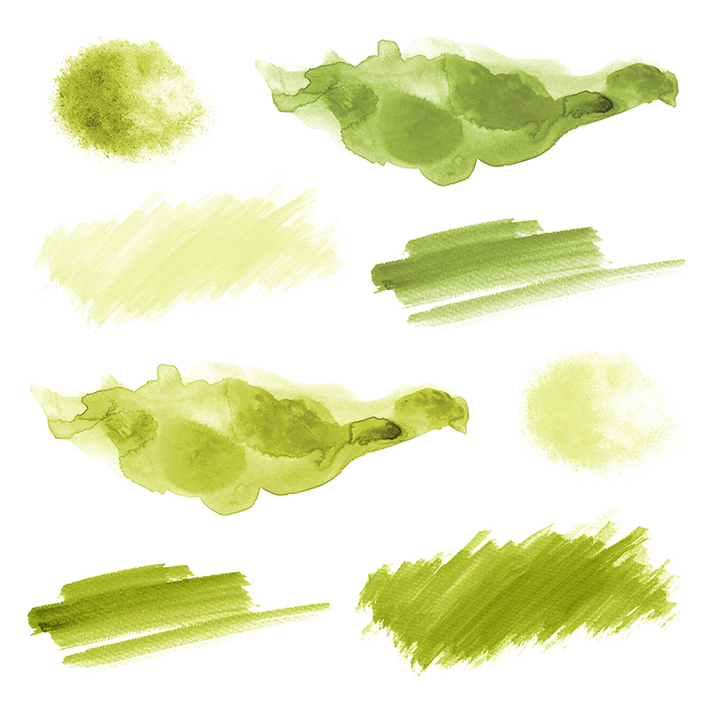 16 Green Watercolor Design Elements example image 3
