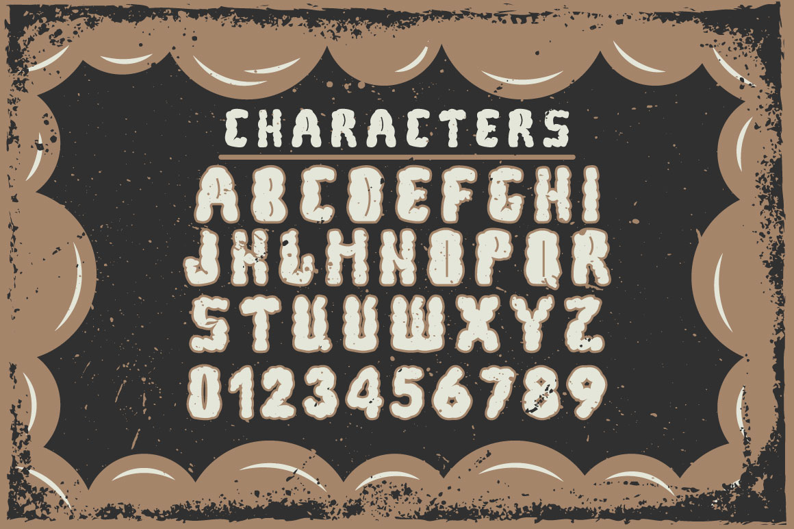 Bubble handcrafted typeface example image 2