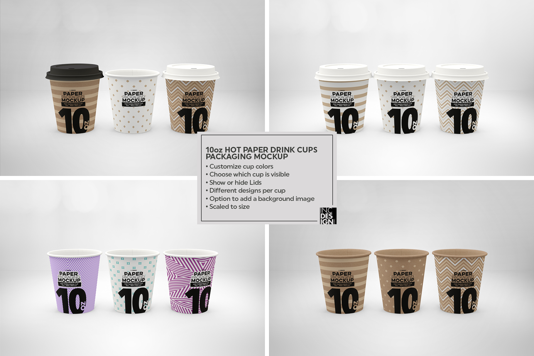 Paper Hot Drink Cups Packaging Mockup example image 16