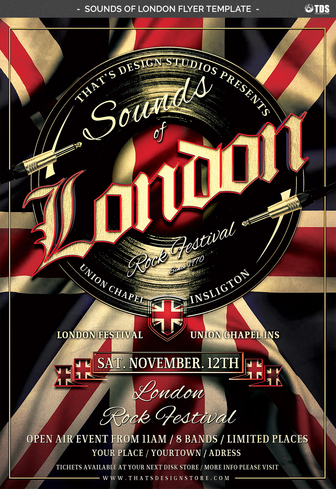 Sounds of London Flyer Template example image 5