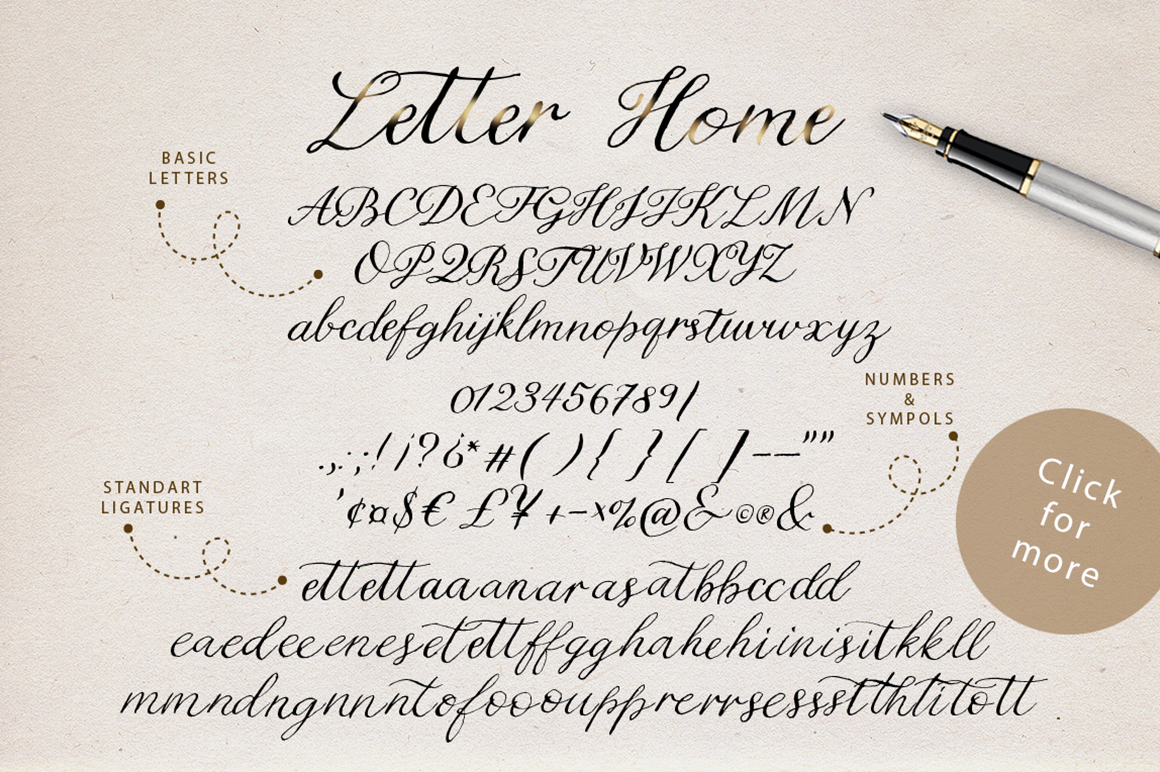 Letter Home. Font Trio Graphics. example image 15