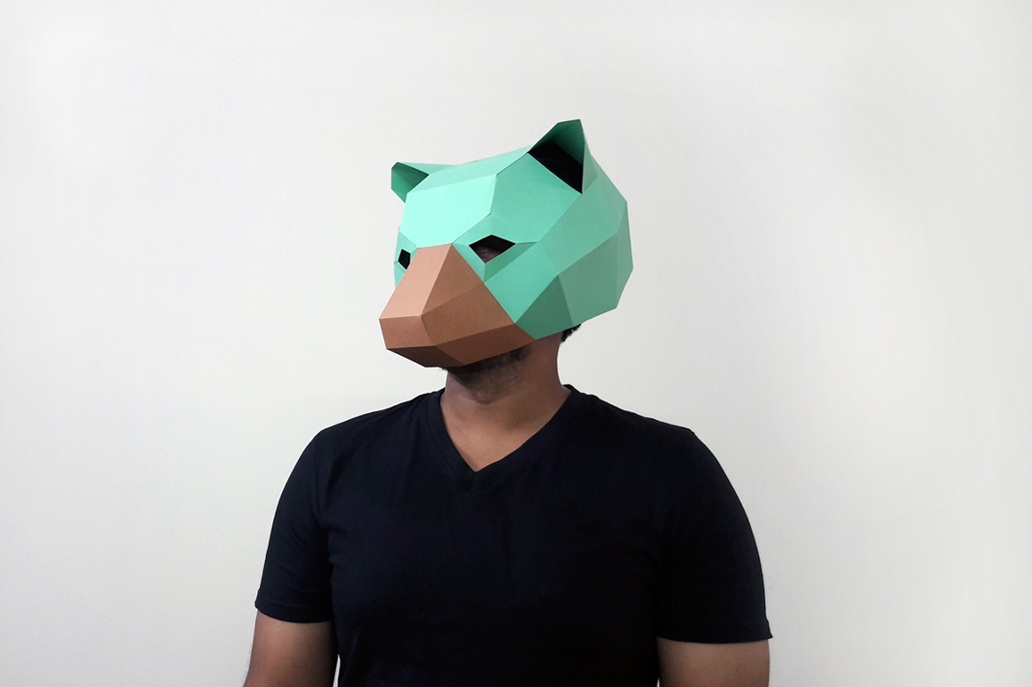 DIY Bear Mask - 3d papercraft example image 2