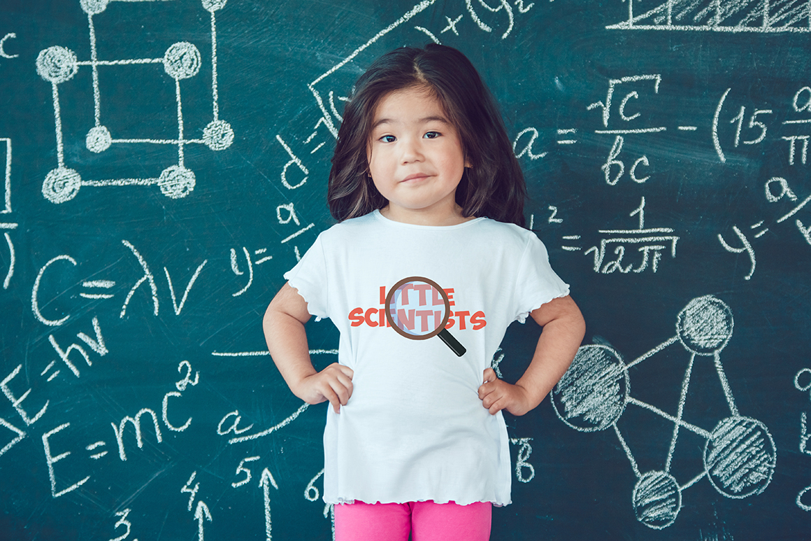 Little Scientists T-Shirt Mock-Up example image 8