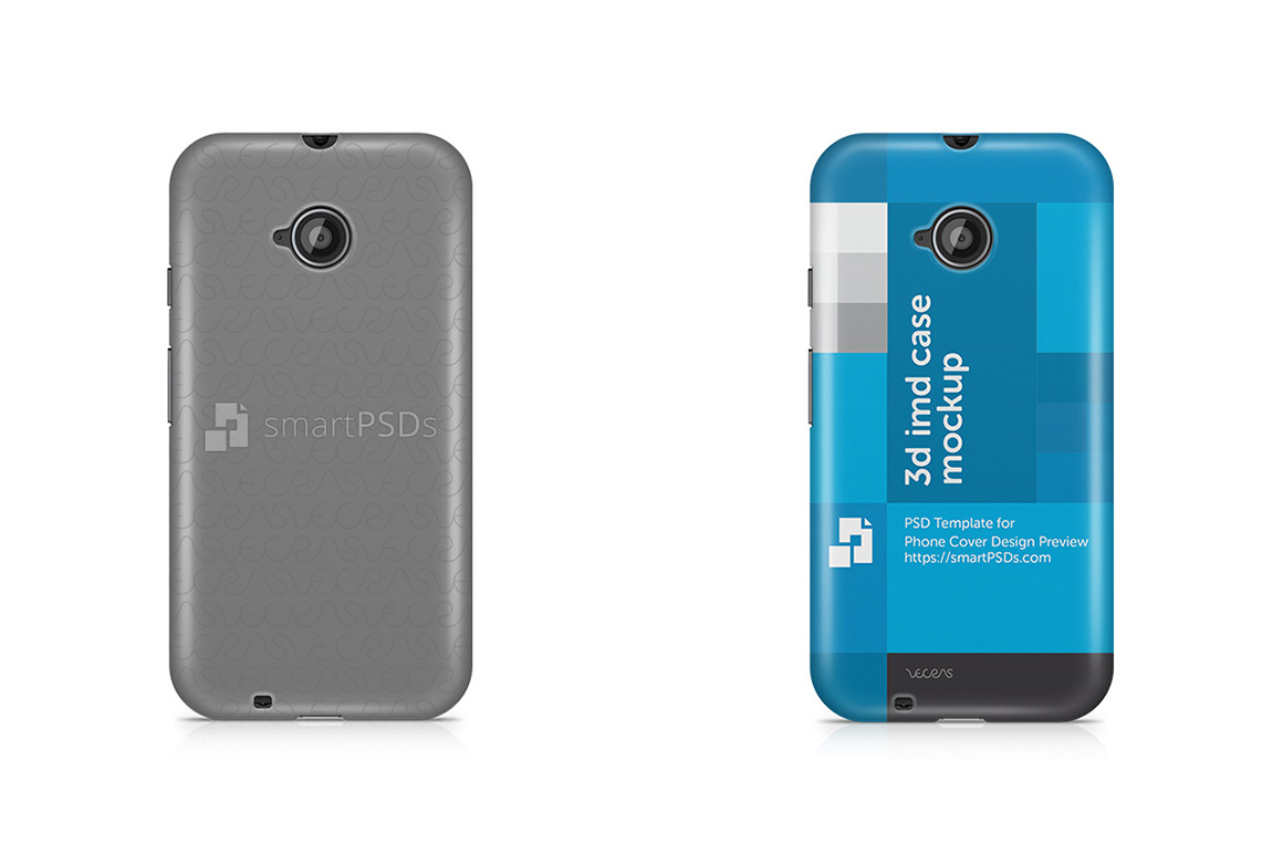 Motorola Moto E2 3d IMD Mobile Case Design Mockup 2015 example image 1