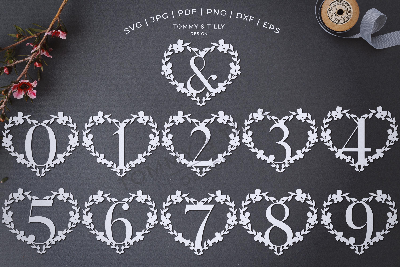 Heart A-Z Alphabet - Papercut SVG DXF PNG EPS JPG PDF example image 4