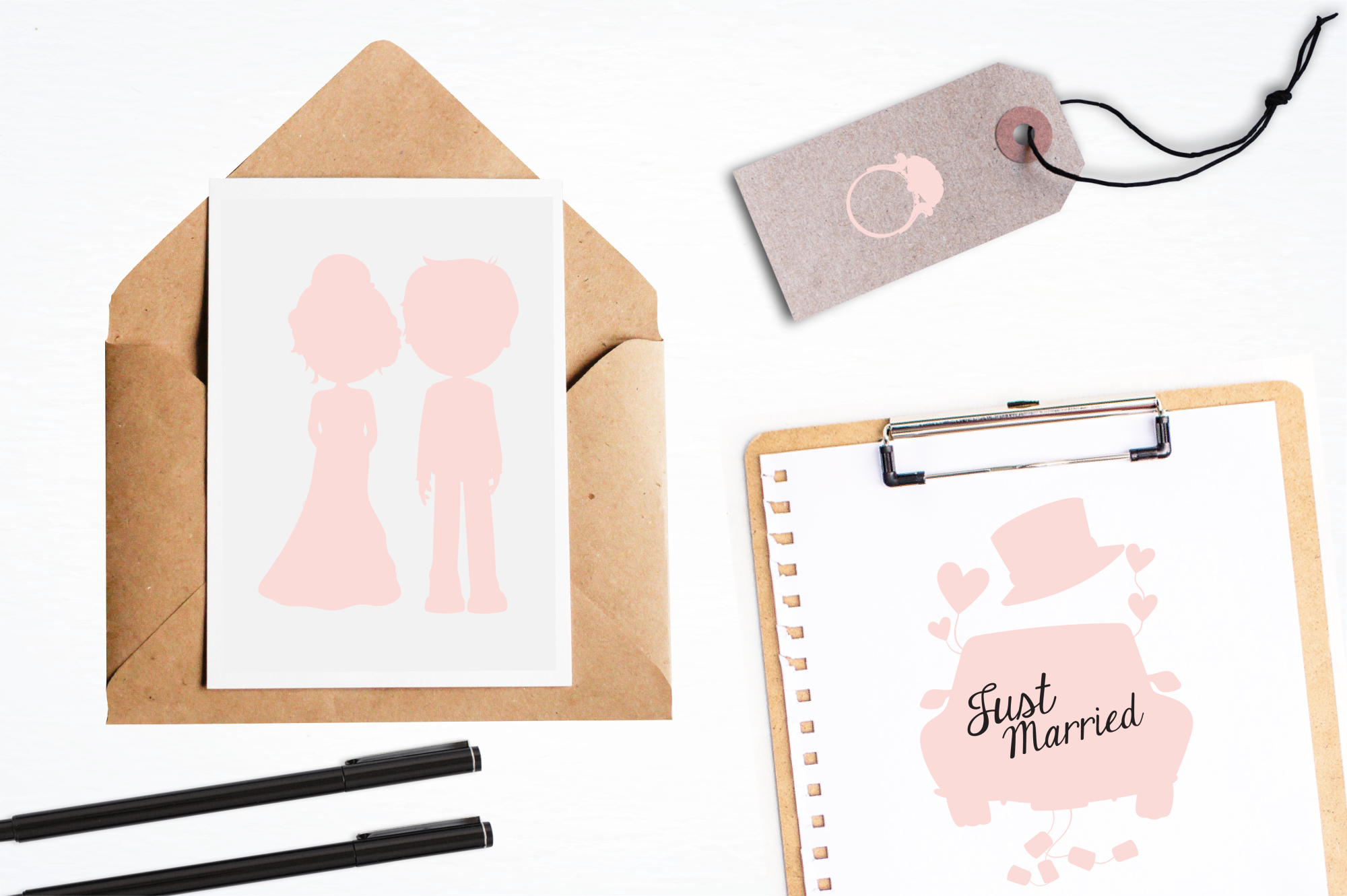 Wedding Silhouette graphics and illustrations example image 4