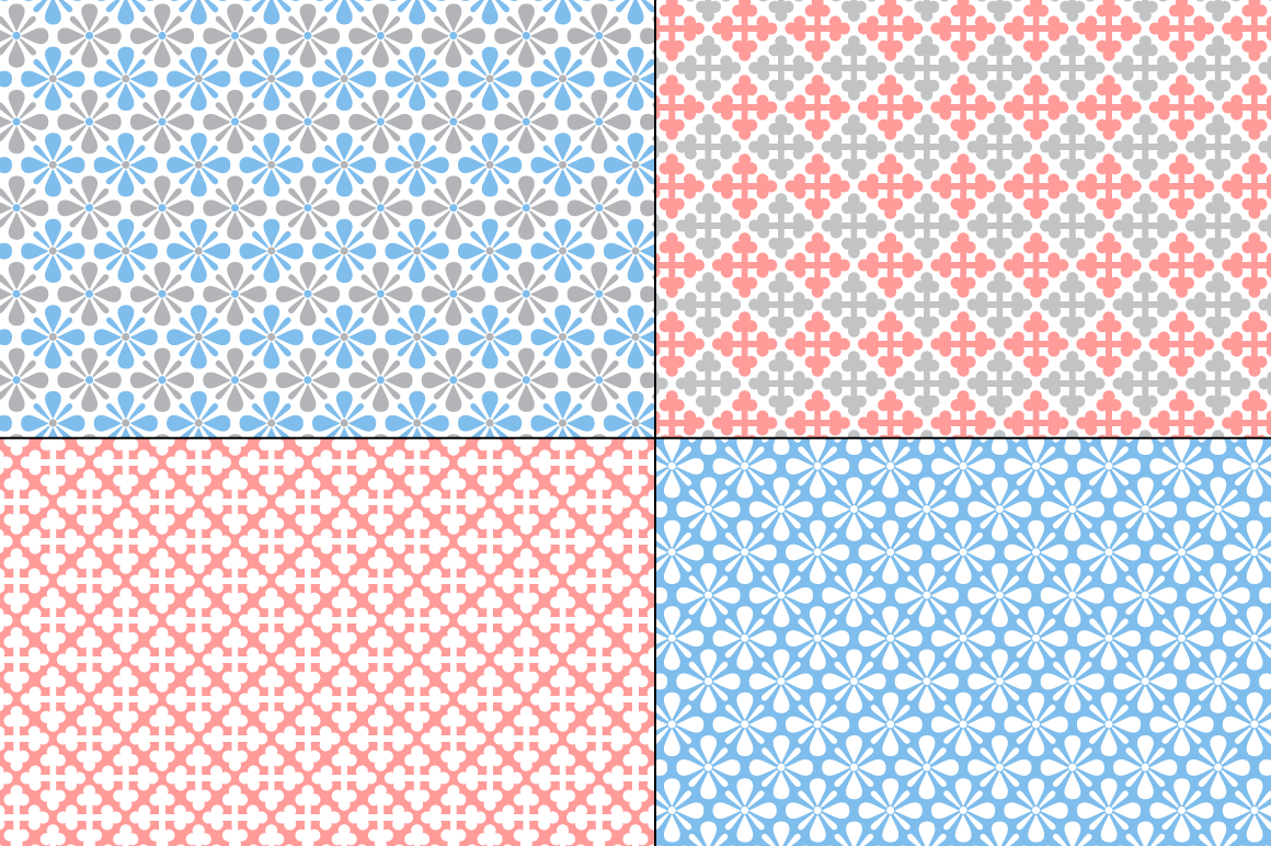 Seamless Pastel Quilt Patterns example image 2