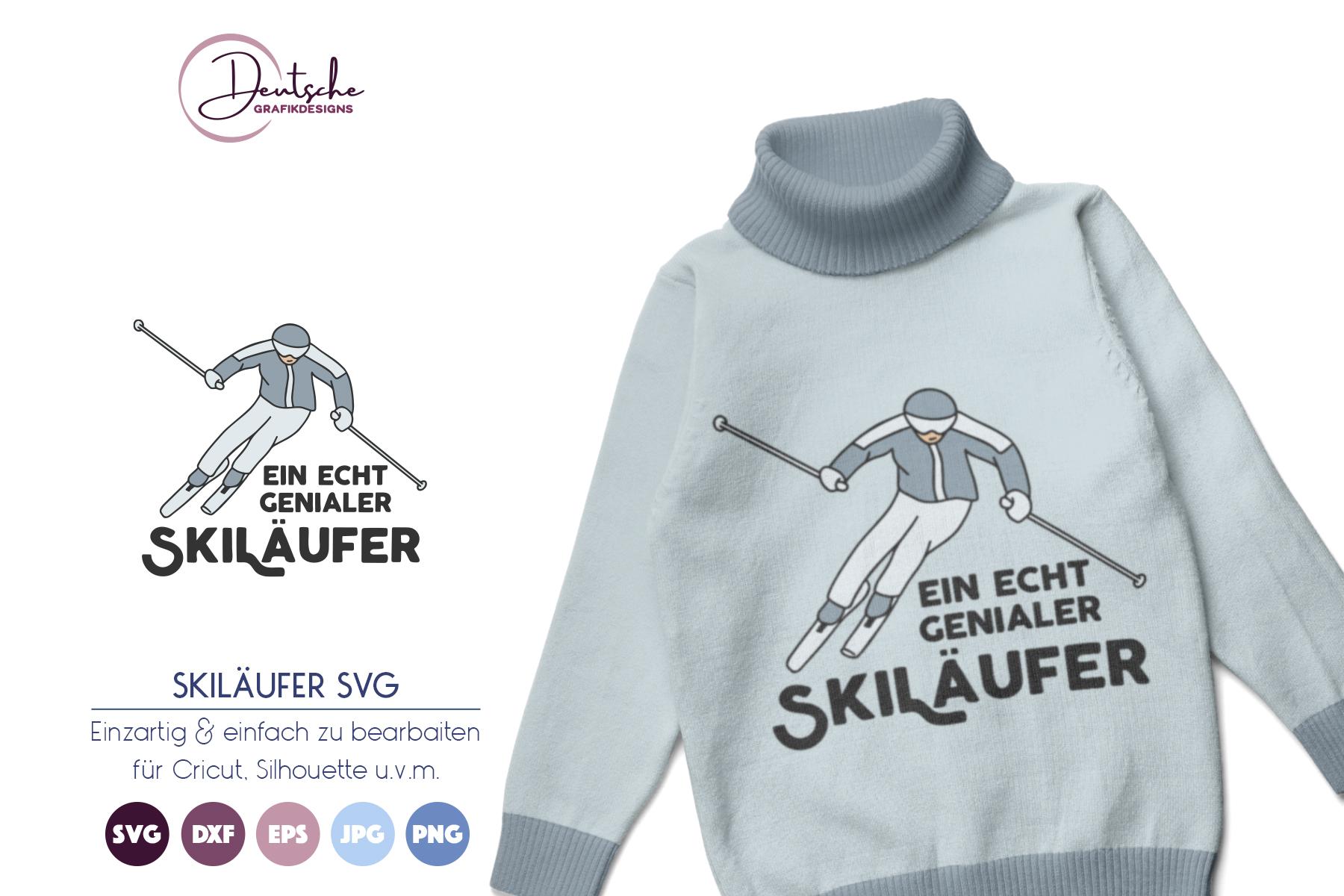 Skiläufer SVG example image 1