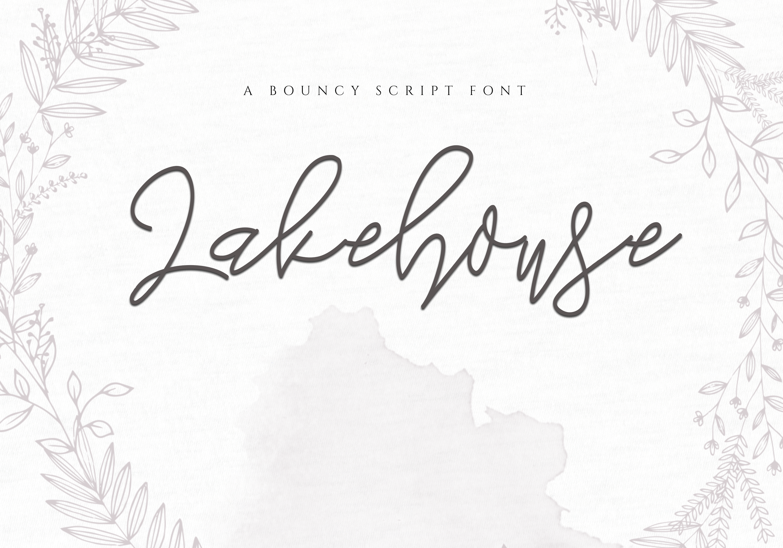 Lakehouse - Fancy Script Font example image 1