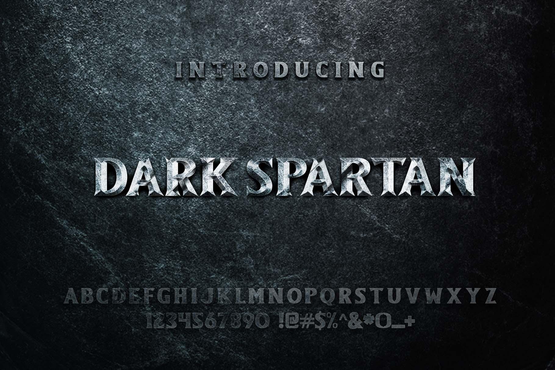 Dark Spartan Display Font example image 2