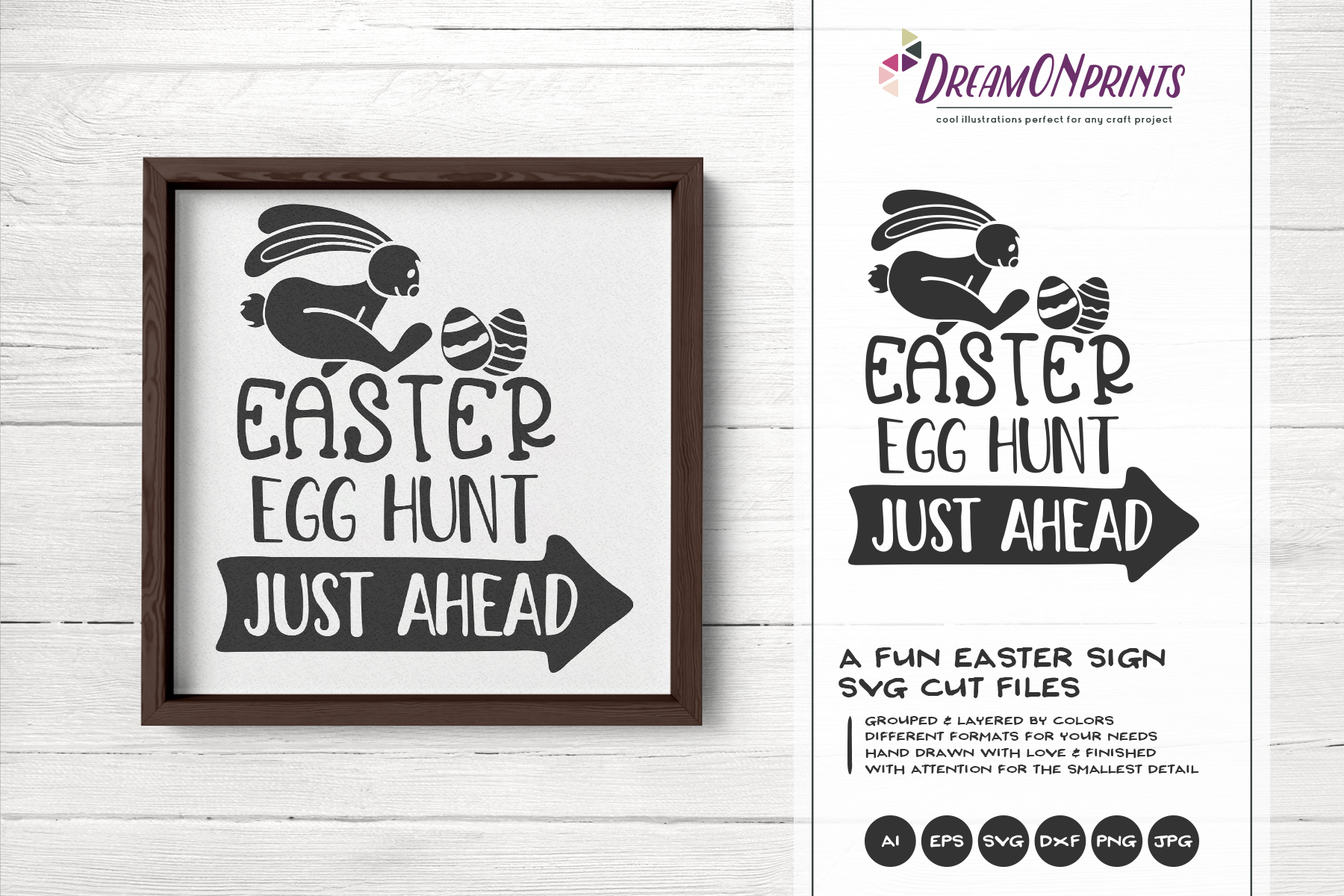 Easter SVG Bundle - The Funny Bunny Vector BUNDLE example image 4