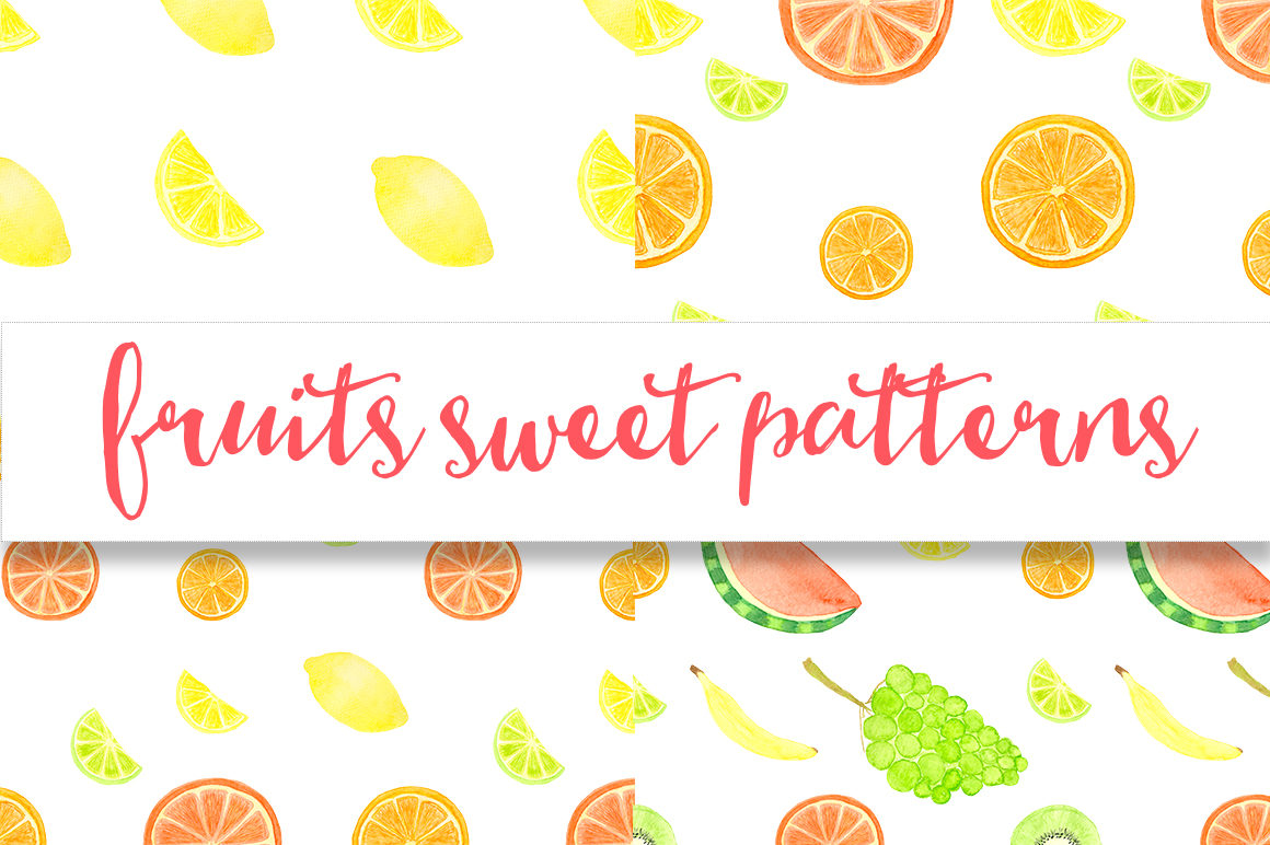 Watercolor sweet fruits example image 6