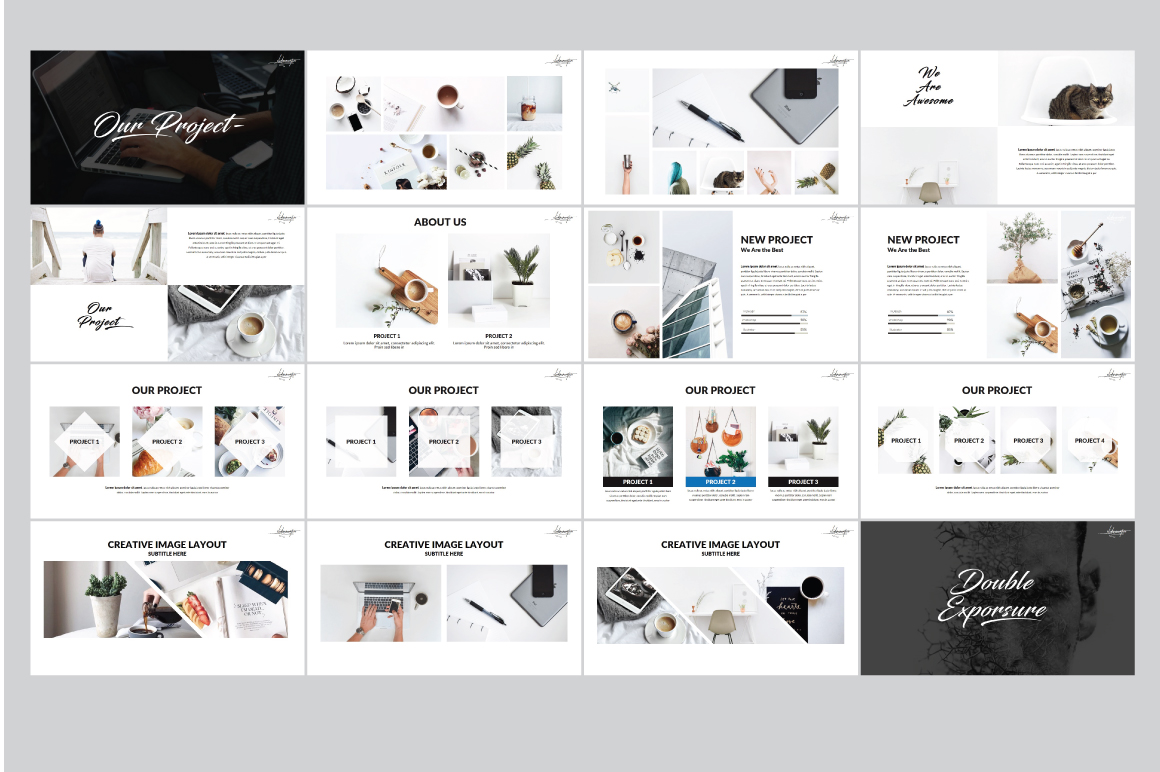 Hipster v.2 Powerpoint Template example image 5