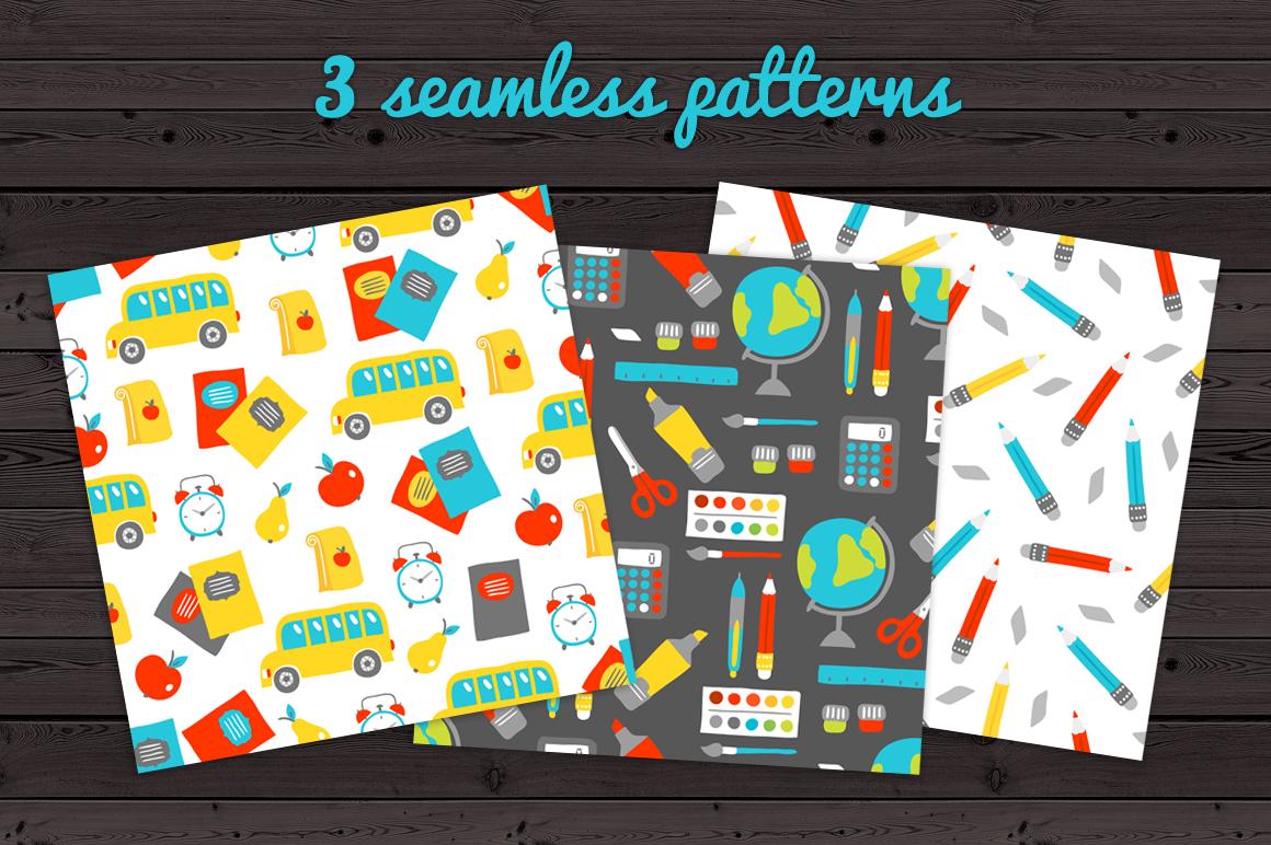 12 School Cards & Bonus Patterns example image 4