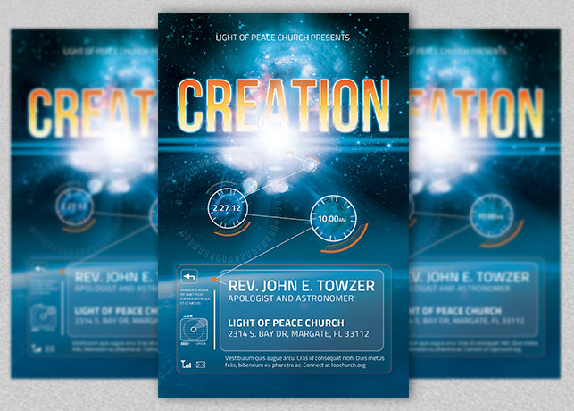 Creation Church Flyer Template example image 2