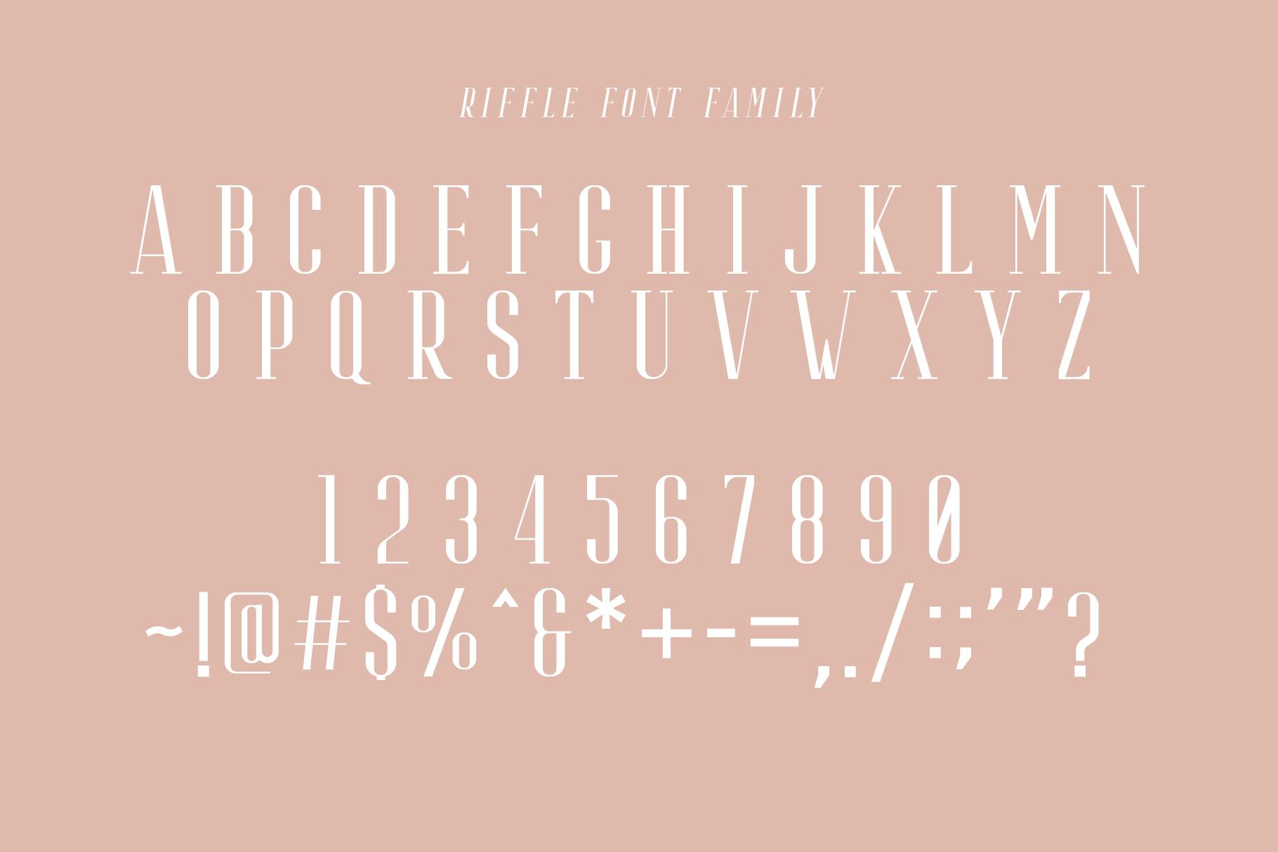 Riffle Font Family example image 7