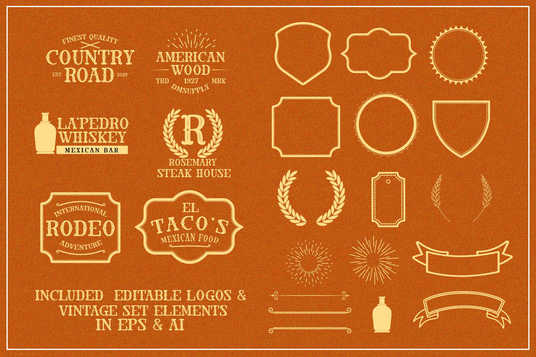 El Cabestor - Vintage Display Typeface & EXTRA example image 3