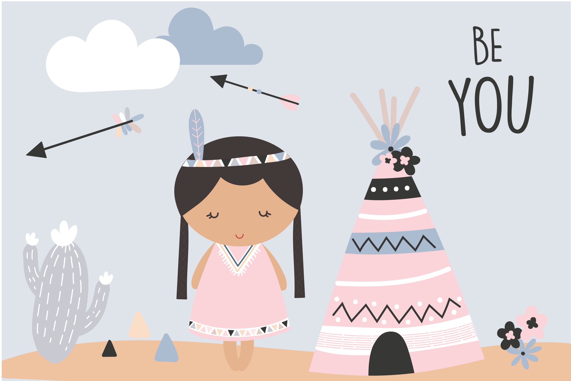 Be You-Tribal girls pack example image 1