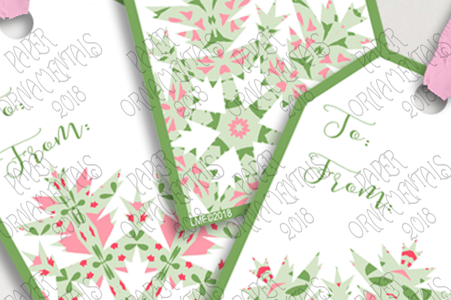 Printable Holiday Gift Tags, Snowflake To/From Tags example image 3