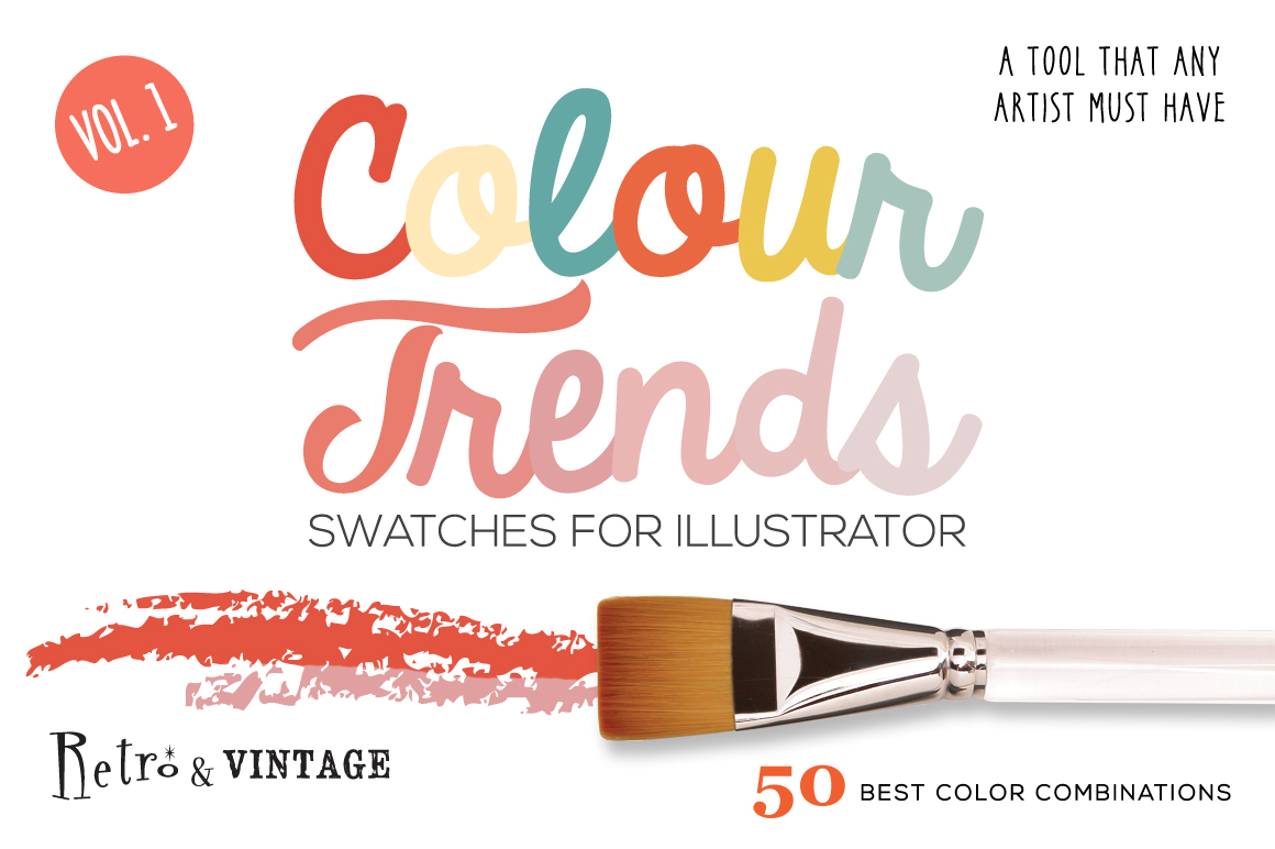Colour Trends Retro Swatches Vol1 example image 1