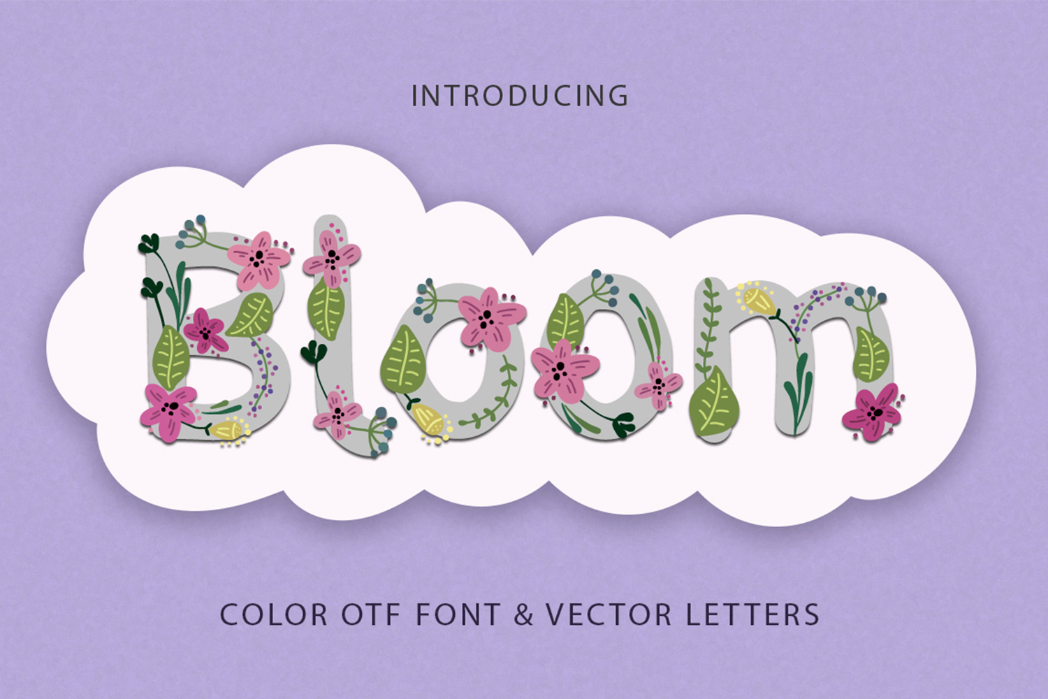 Bloom. Color Spring Font. example image 1