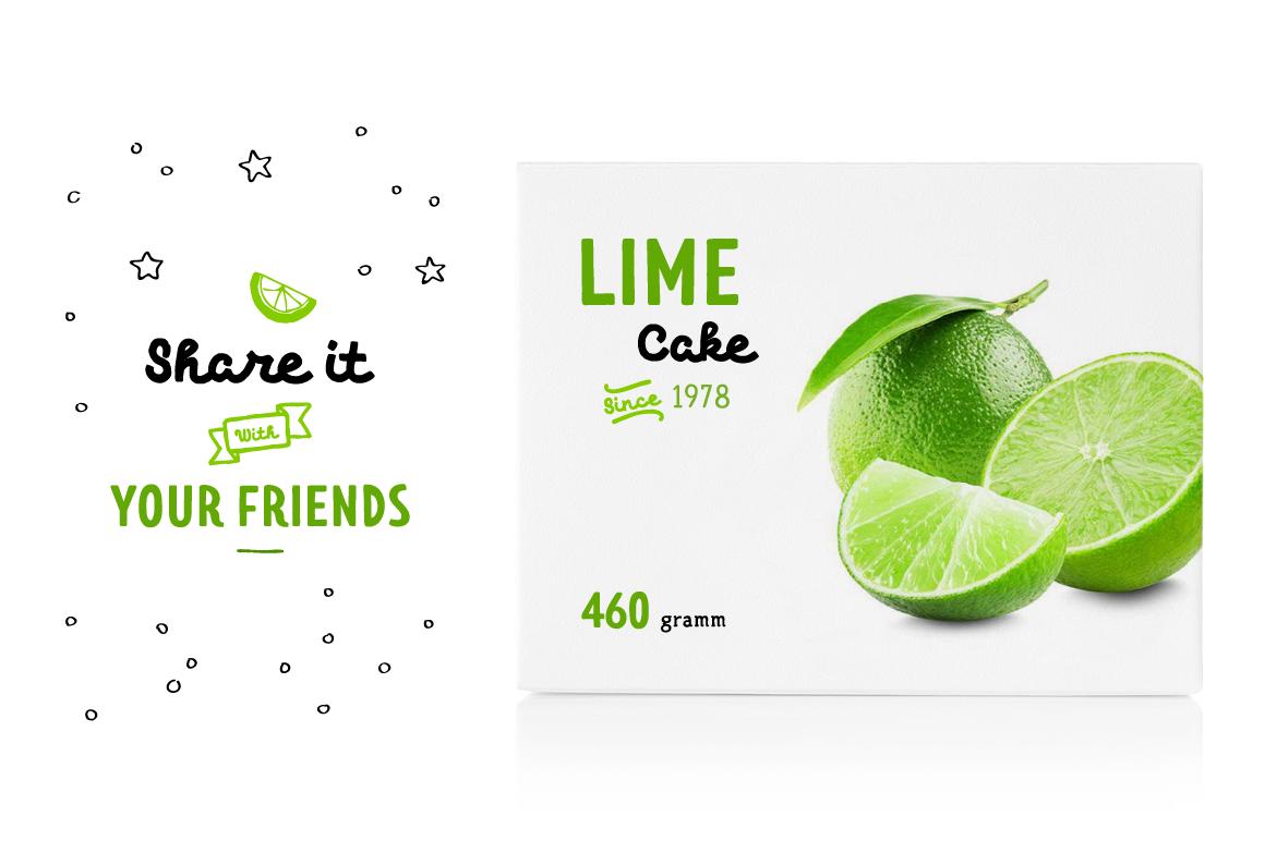 Limes—handmade fontfamily example image 7