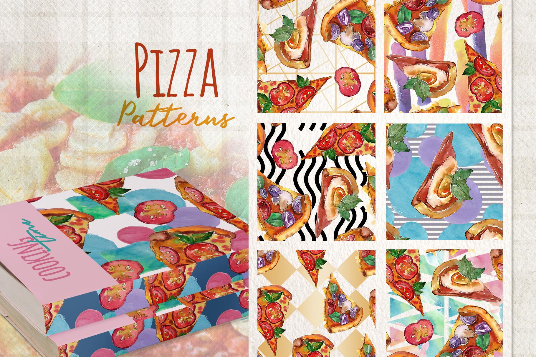Hawaiian Pizza Watercolor png example image 4
