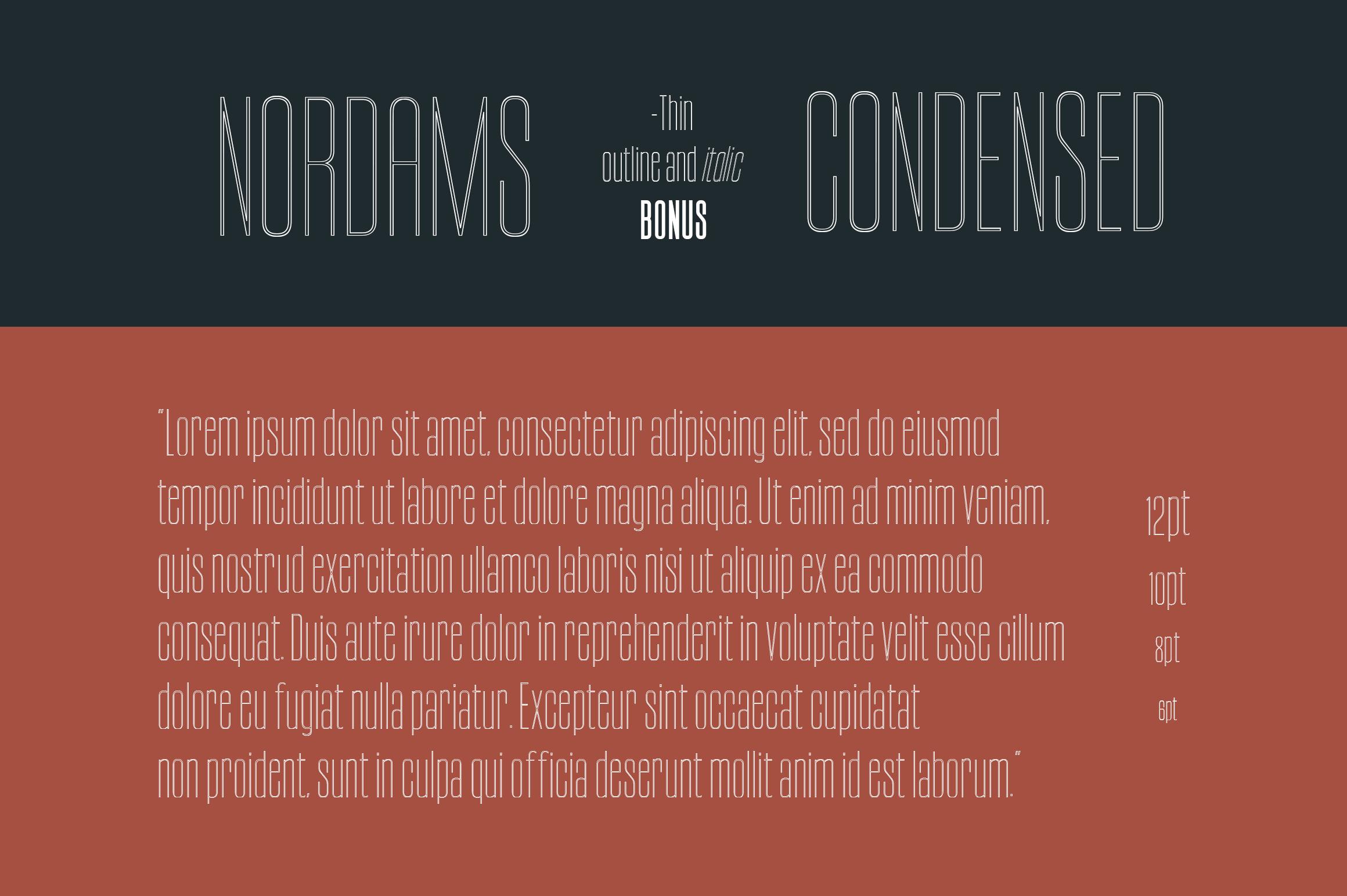 NORDAMS - Sans Serif example image 4